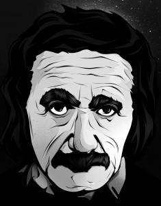 Ilustración Albert Einstein