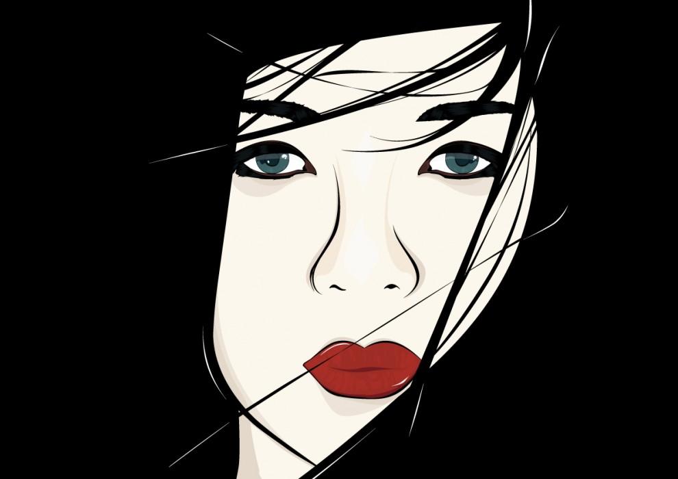 Ilustración vectorial Geisha