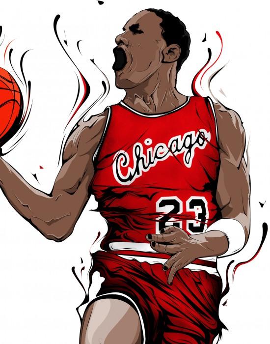 Ilustración Michael Jordan