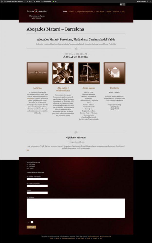 Diseño de página web para Sopena & Associats