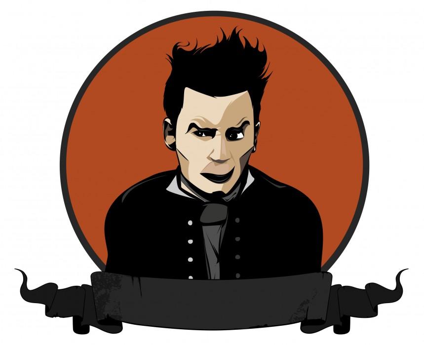Ilustración de Johnny Depp