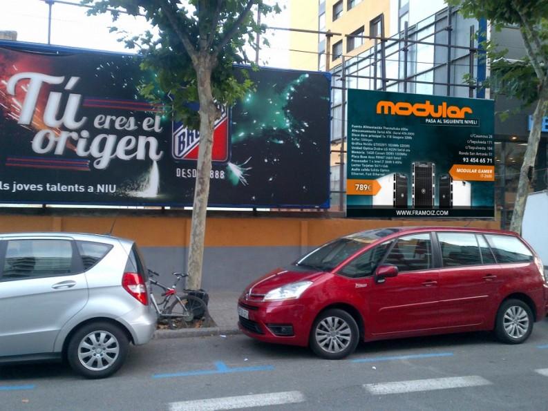 Publicidad exterior para Modular Barcelona