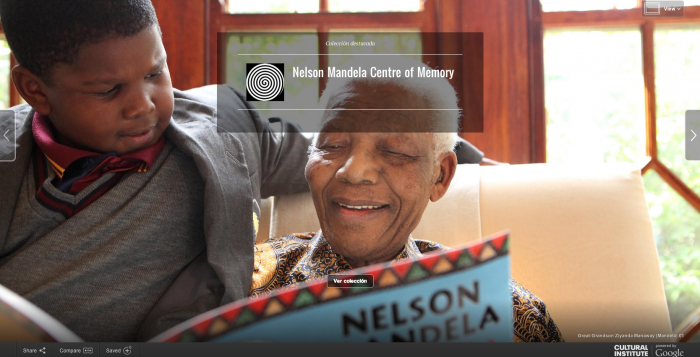 Google Cultural Institute nos lleva al Nelson Mandela Centre of Memory