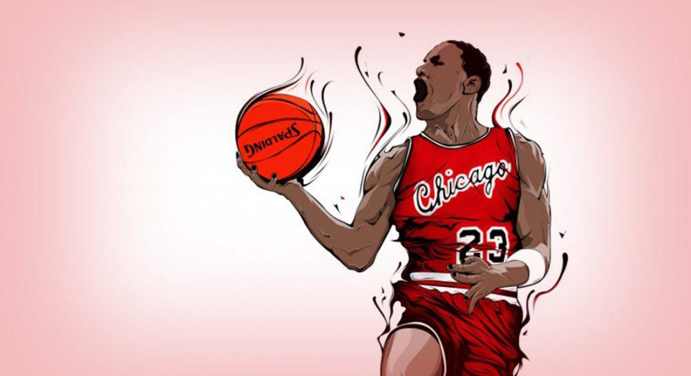 Ilustración de Michael Jordan