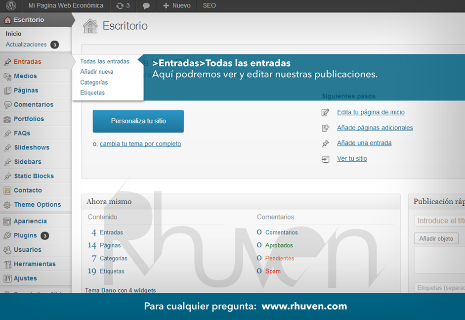 como hacer un post en wordpress