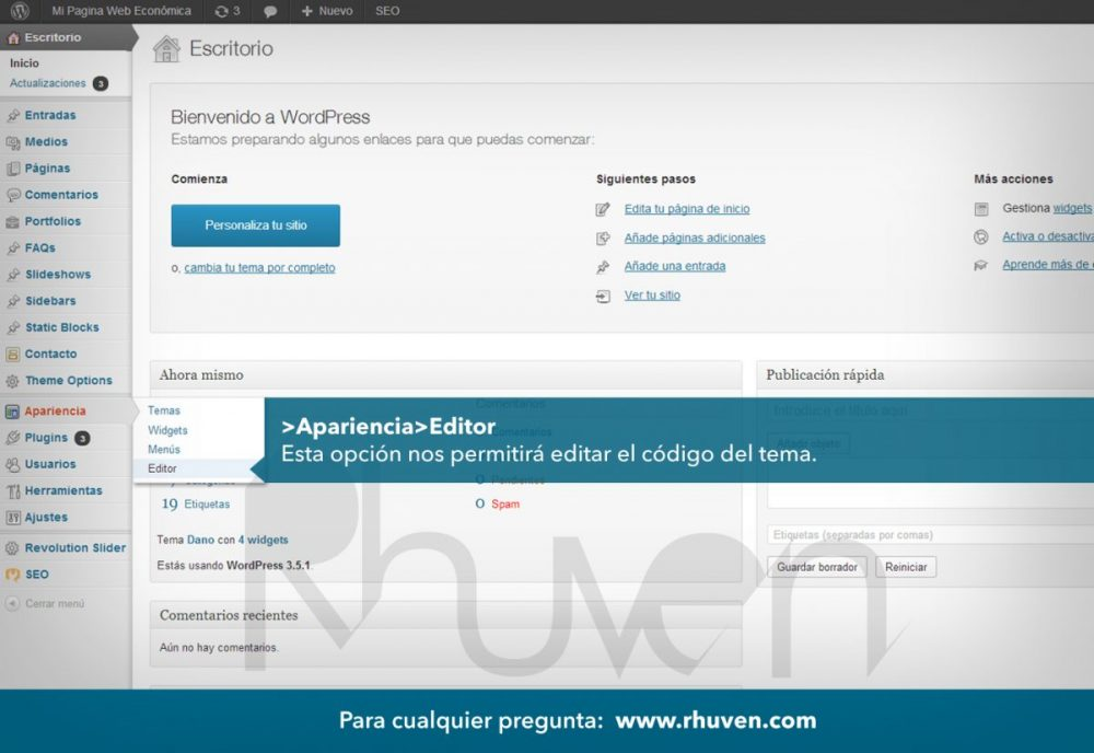 tutorial wordpress en español