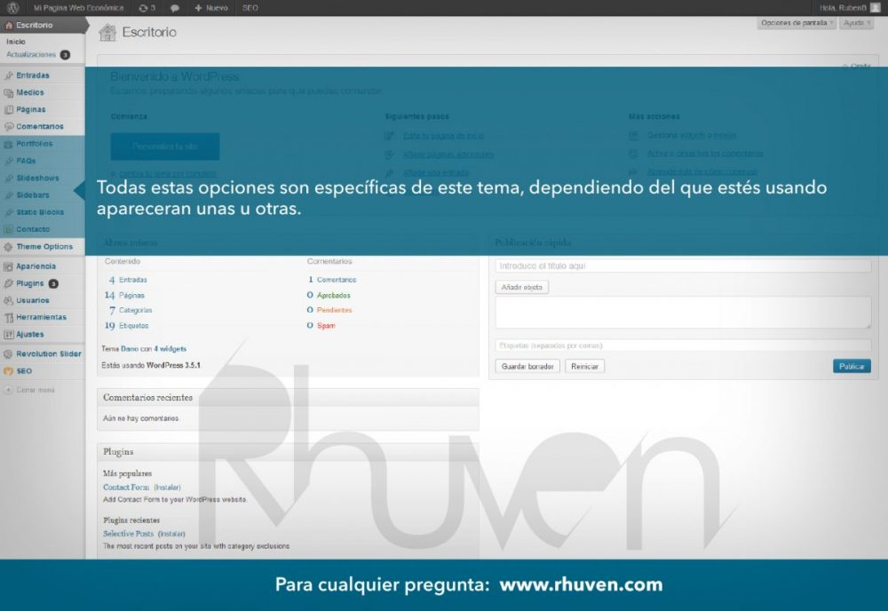 Tutorial WordPress 3 de 8