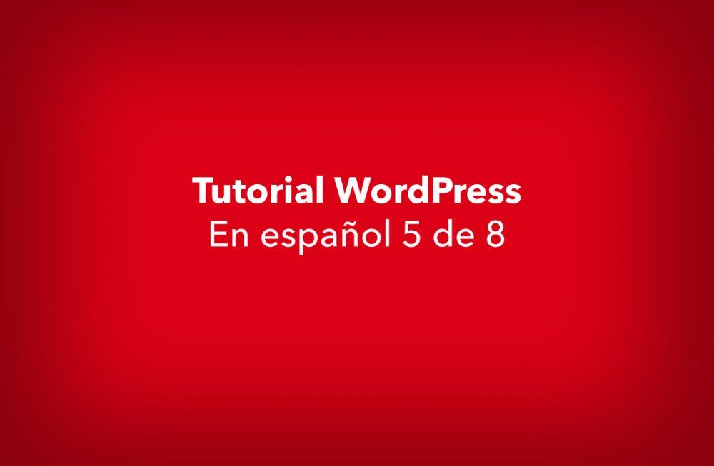 Tutorial de WordPress 5 de 8 – Diseñador web WordPress