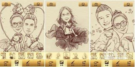 aplicación caricaturas