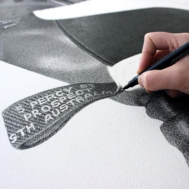 ilustración con rotulador