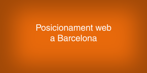 Posicionament web Barcelona