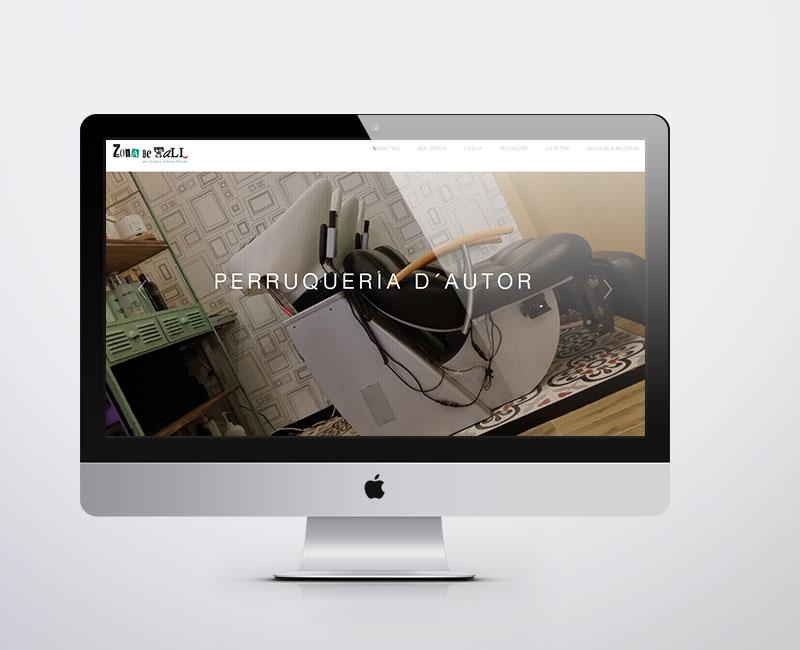Diseño web para Zona de Tall Barcelona