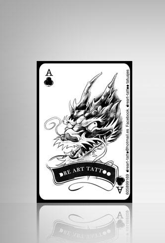 Diseño de tarjetas Barcelona Dreart Tattoo