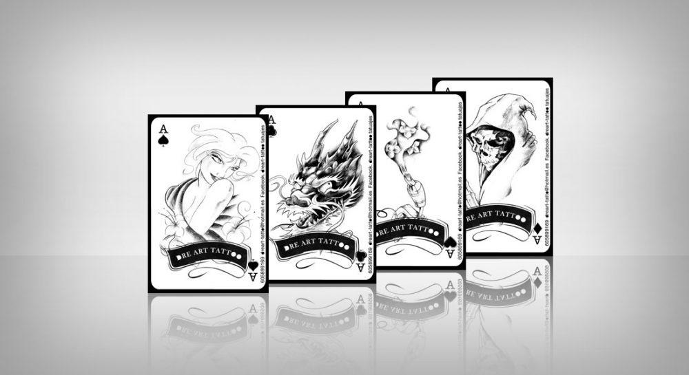 Diseño de tarjetas para Dreart Tattoo