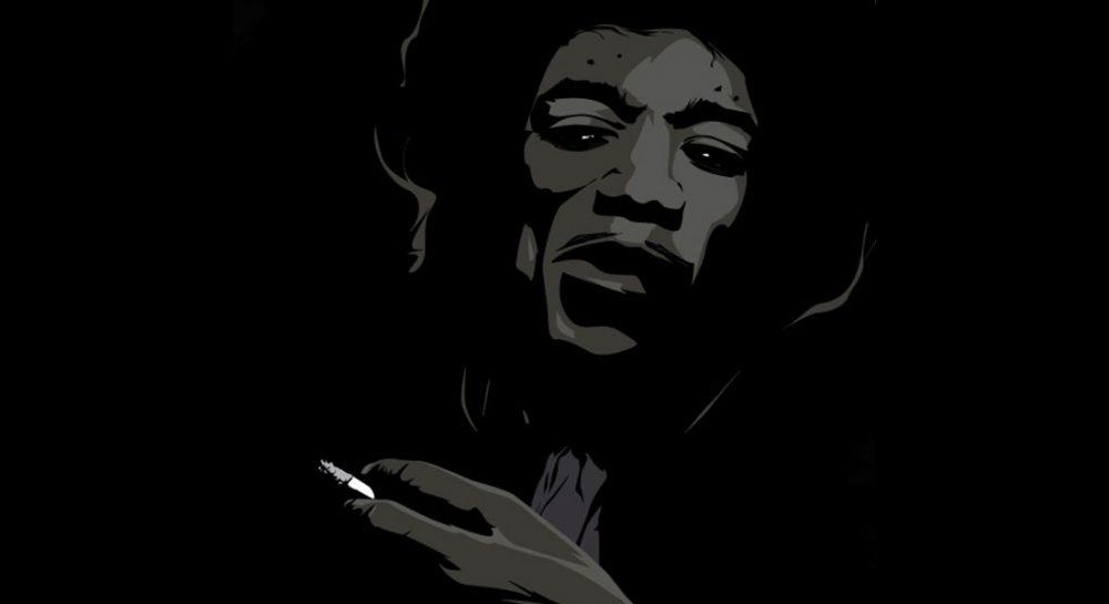 Ilustración de Jimi Hendrix