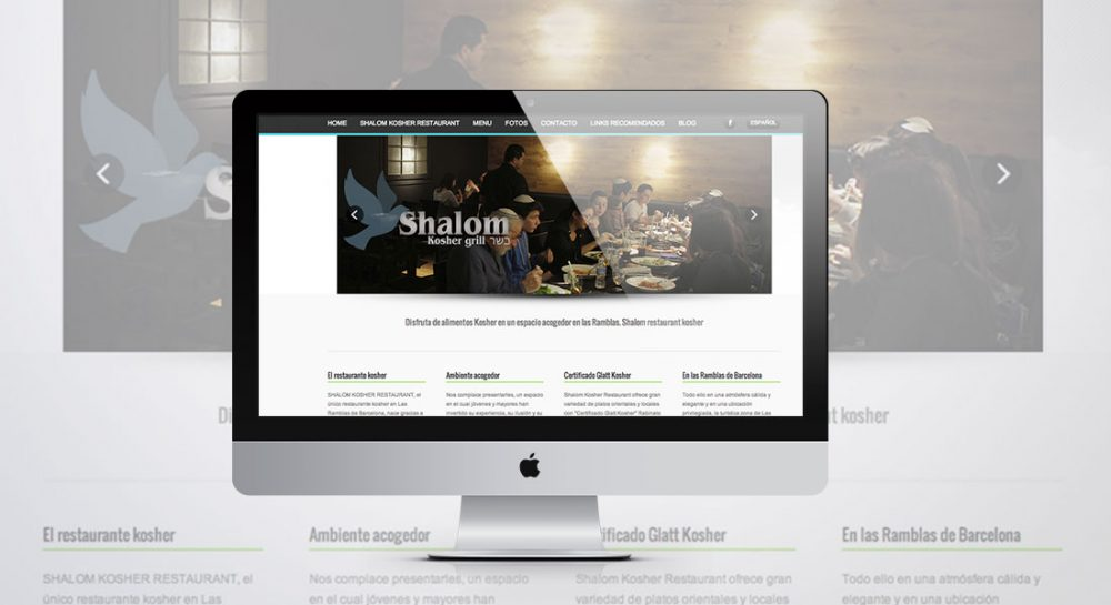 Diseño web Tarragona – Restaurante Shalom Kosher Barcelona