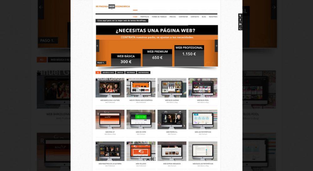 Desarrollo web para Mi página web económica