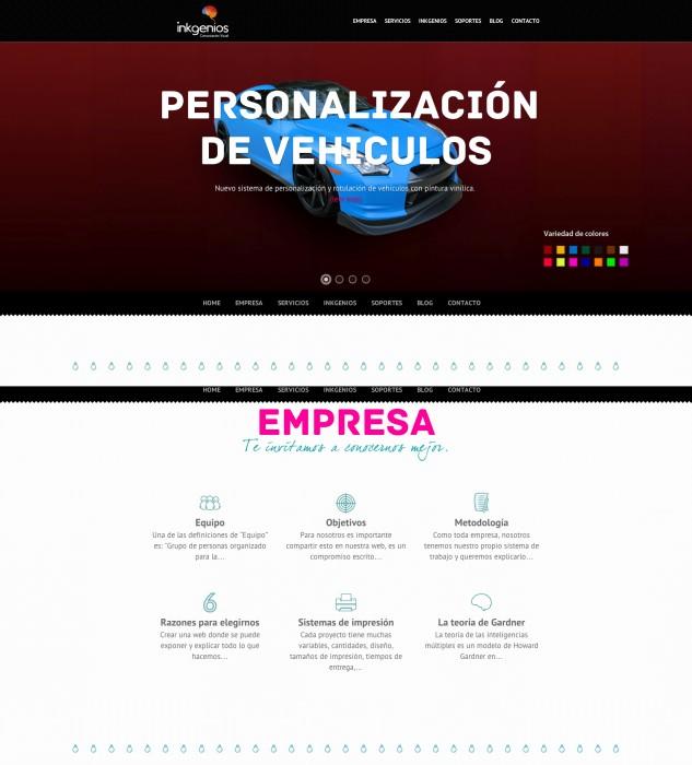 Diseño web Wordpress para InkGenios