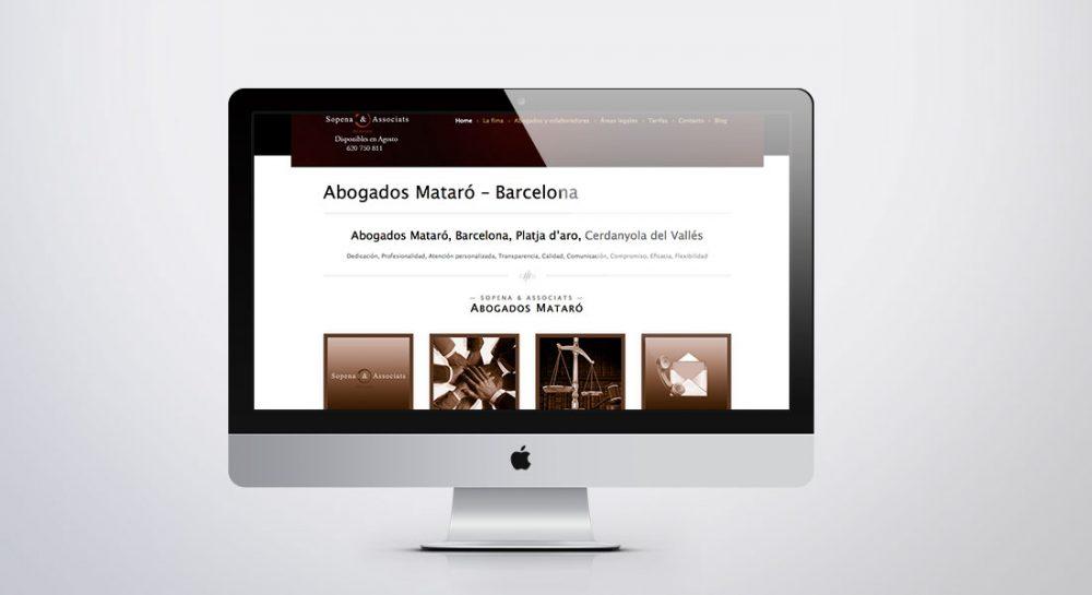 Diseño de página web para Sopena Associats Abogados