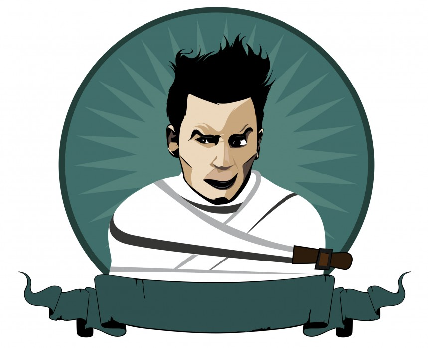 Ilustración vectorial de Johnny Depp
