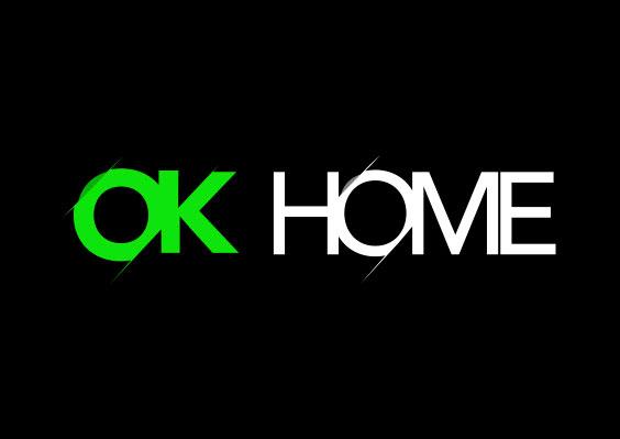 Diseño de logotipo OK HOME