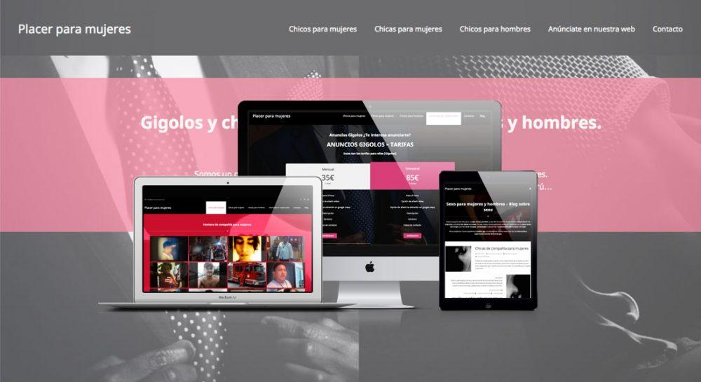 Diseño web para portal erótico