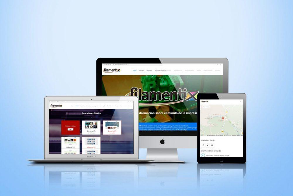 Diseño de páginas web Filamentix 3D