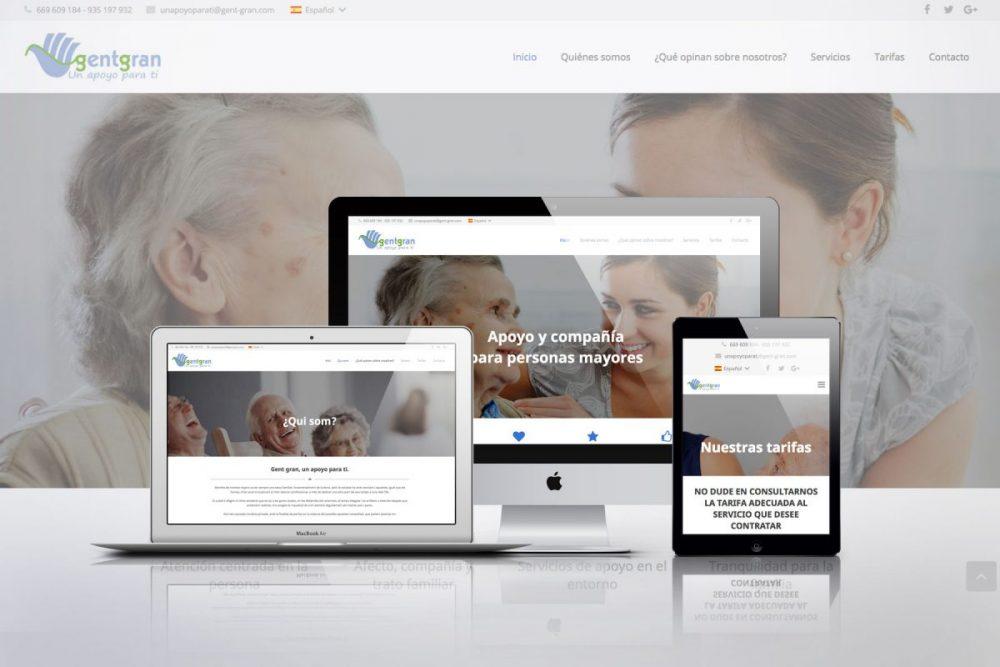 Diseño web con WordPress para Gent Gran de Viladecans
