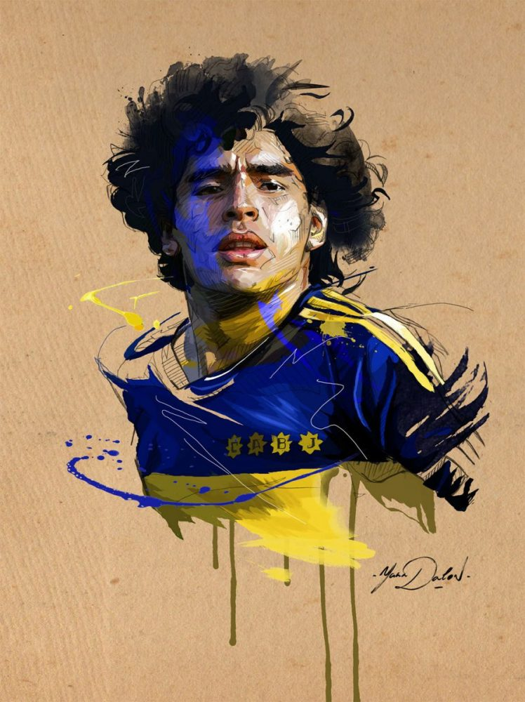 ilustración Maradona