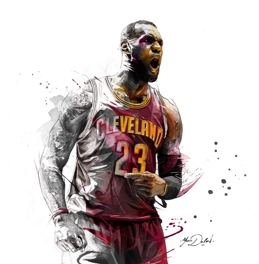 ilustración lebron james