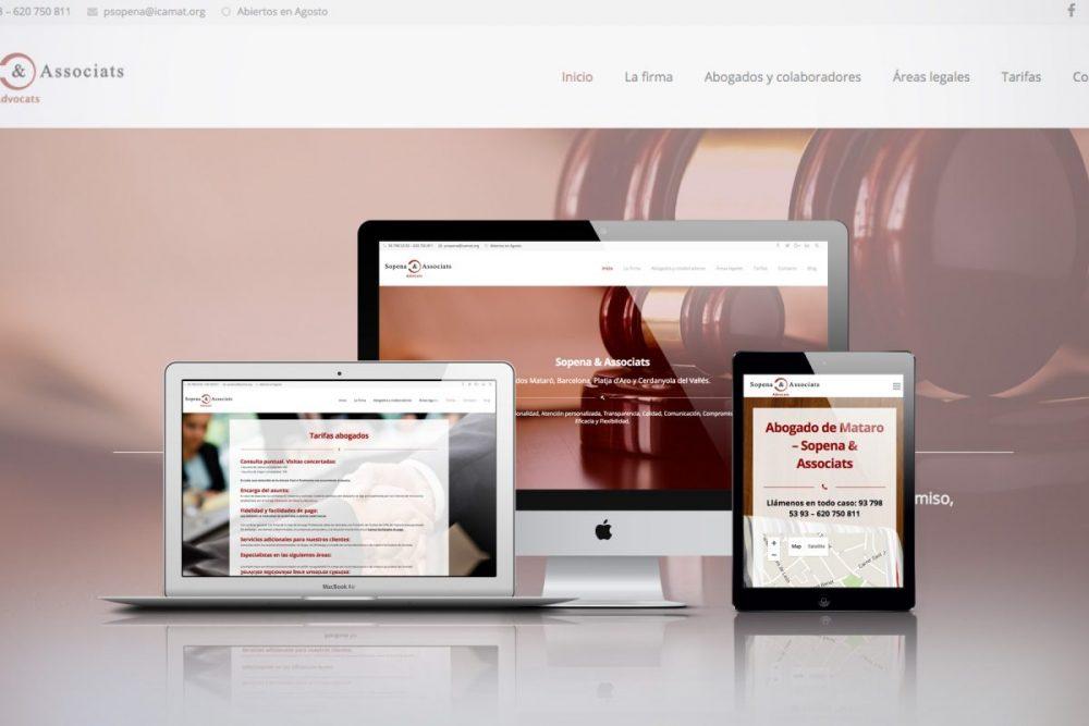 Diseño web Mataró Sopena & Associats