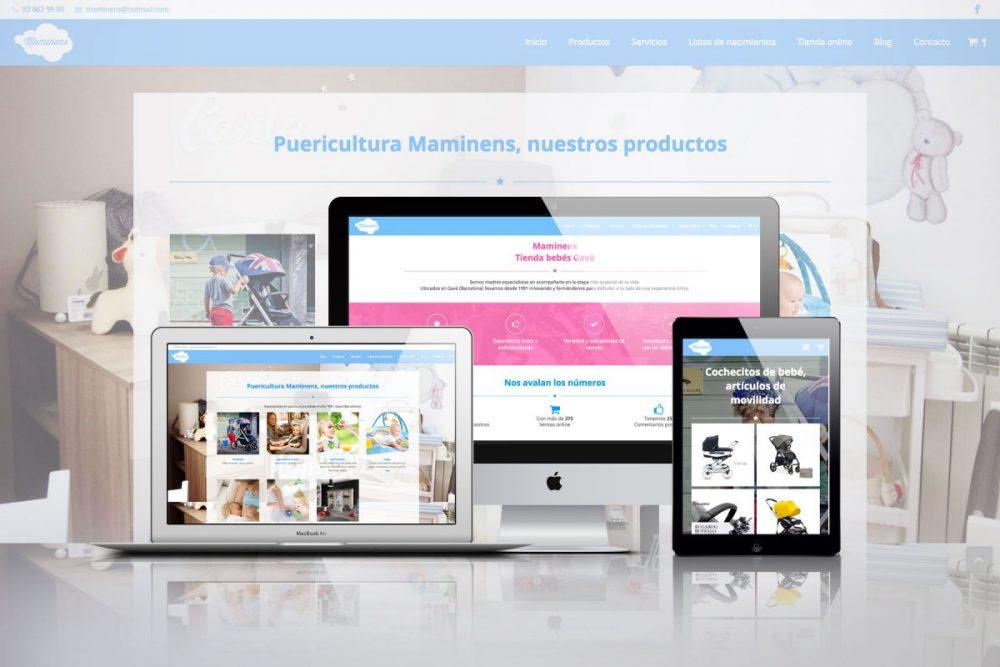 Diseño web para Maminens de Gava