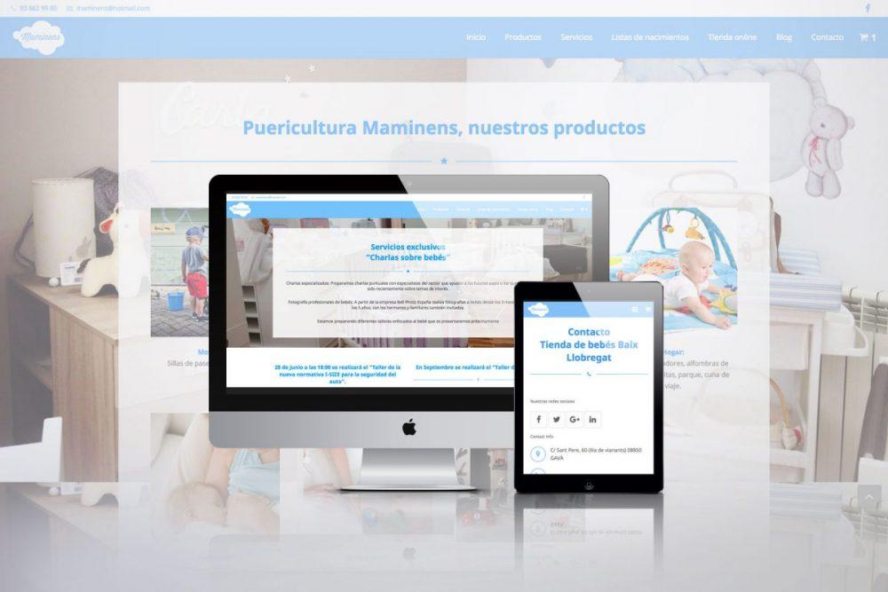 Diseño web Gavà Maminens