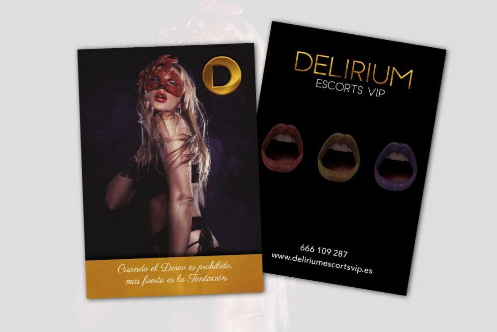 Diseño de flyers para Delirium Vip Madrid