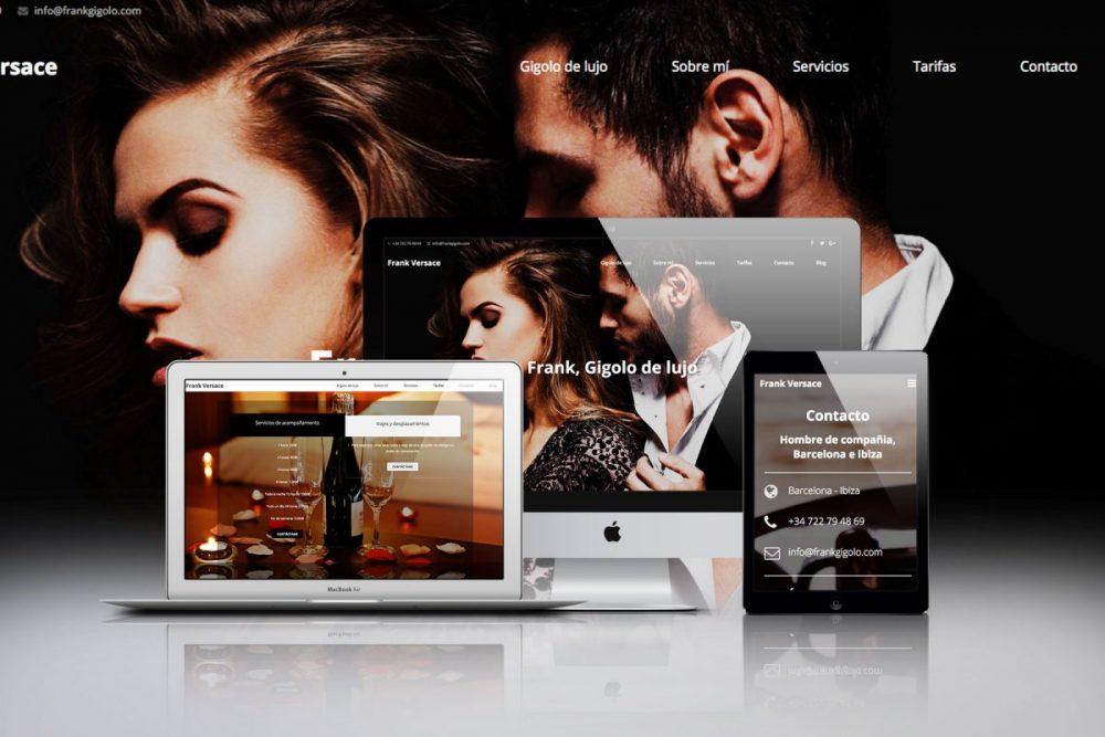 Diseño web para Frank Gigolo de Ibiza