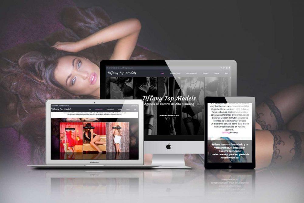Diseño web WordPress Madrid, Tiffany Top Models