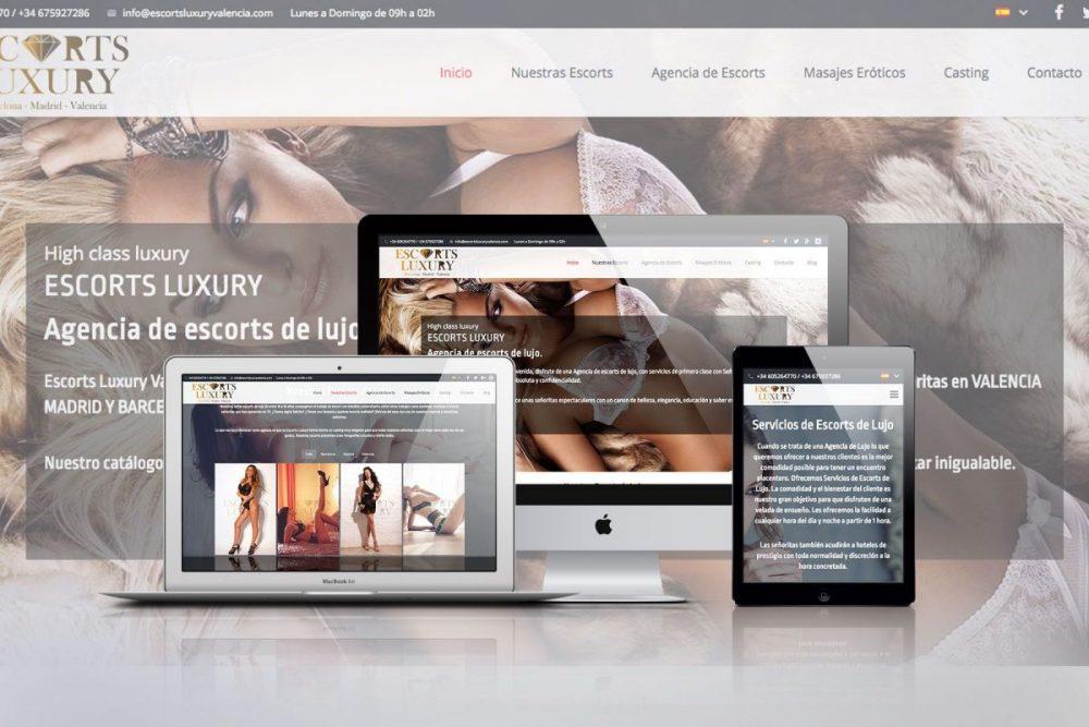 Diseño web para la Agencia Escorts Luxury Barcelona