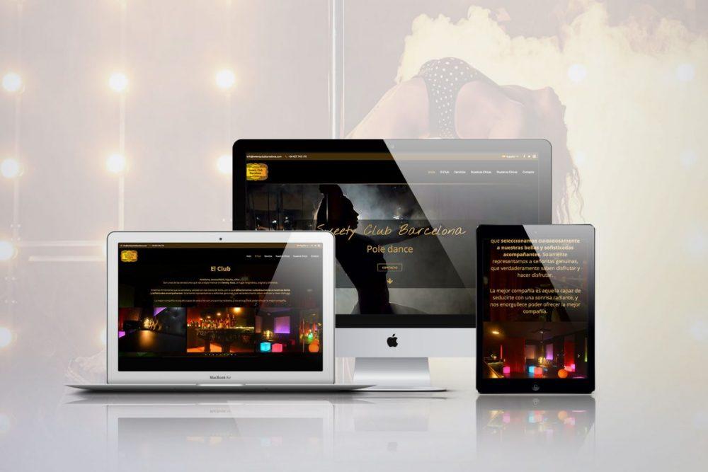 Diseño web Para Sweety Club Barcelona
