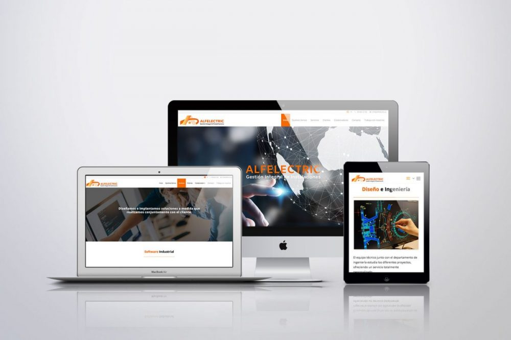 Diseño Web WordPress para Alfelectric Castelldefels