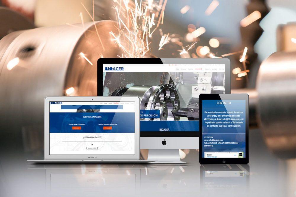 Diseño web para Bioacer