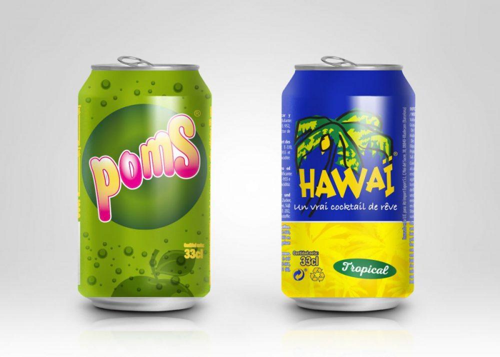 Diseño de latas para POMS y HAWAI