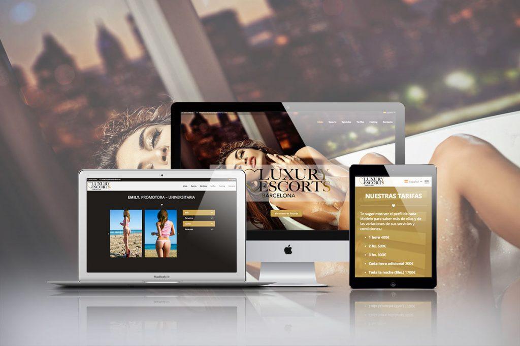 Diseño web para Luxury Escorts Barcelona