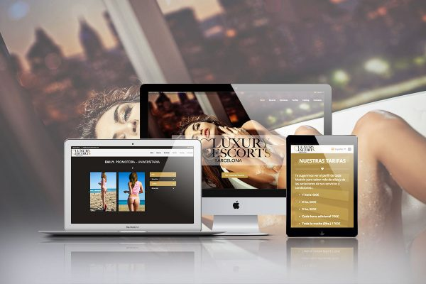 Diseño web para Luxury Escorts Barcelona