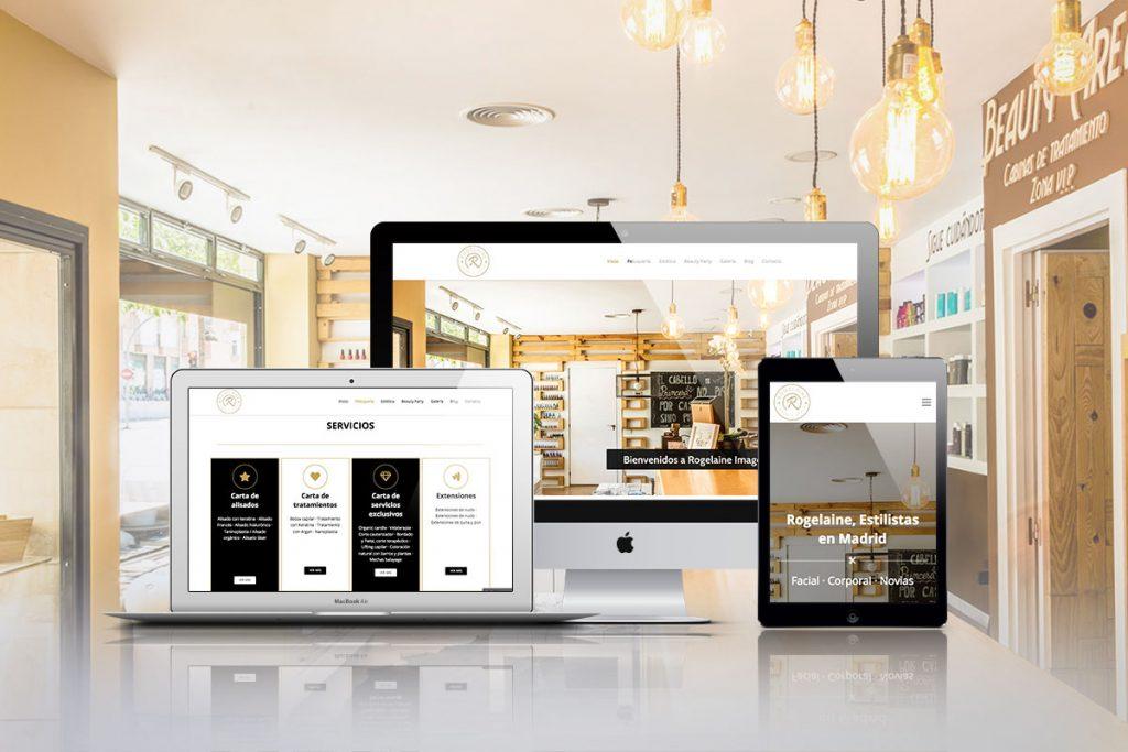 Diseño web y Marketing Online para Rogelaine Imagen de Madrid