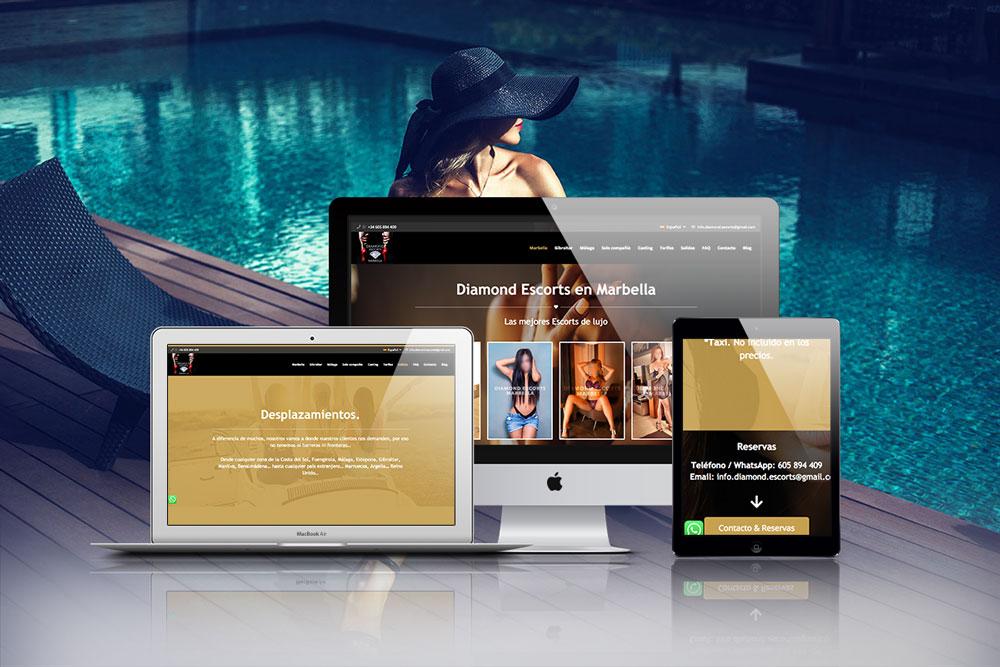 Diseño de webs para Diamond Escorts Marbella